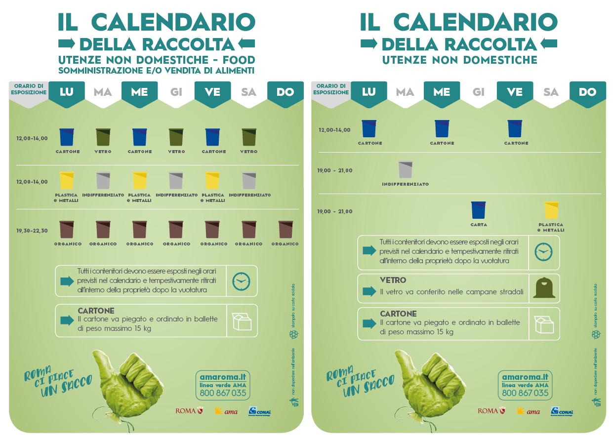 In Un Quartiere Di Una Citta Il Calendario Della Raccolta Differenziata.Servizi Nel Tuo Quartiere